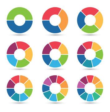 circular charts collection