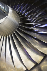 Airplan Turbo-jet engine, close up