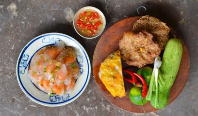 Vietnamese pork and shrimp dumplings - Banh quai vac