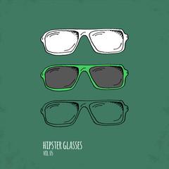 Hand Drawn Hipster Glasses Illustration - Vol. 05.