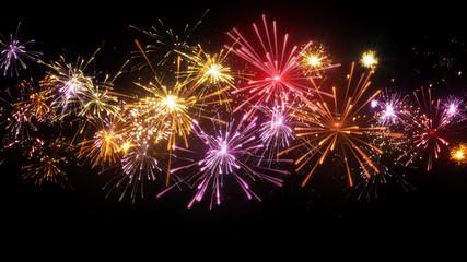 beautiful fireworks illustration