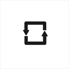 arrows in a circle black line icon