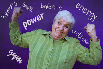 Active, energy and strong senior women