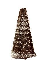 Chocolate cone in the form a snowy trees
