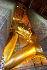 Buddha Statue in a temple in Bangkok,Thailand