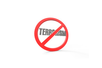 stop terrorism 3d