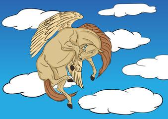 Pegasus soaring