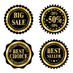Sale badges, Black Friday theme