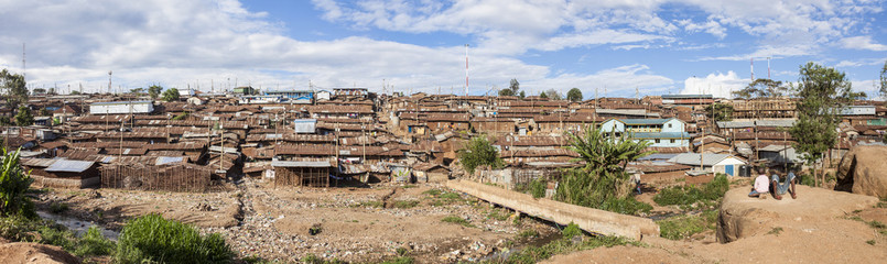 panorama of kibera slum