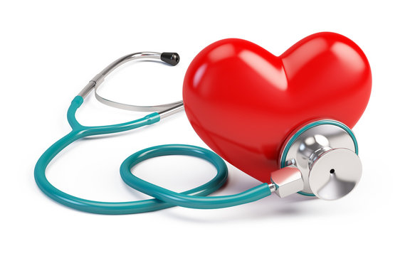 stetoscope and heart
