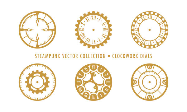Steampunk Collection (isolated on white) - Clockwork Dials