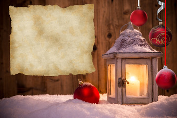 Abstract Christmas background with lantern