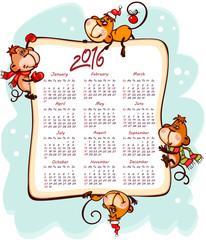 New Year's calendar 2016