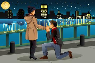 Man proposing to Woman