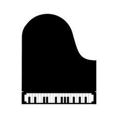 Simple black piano icon