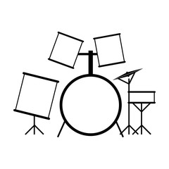 Drum set black icon
