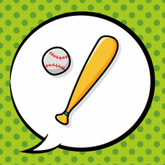 baseball doodle, speech bubble