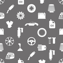 car parts store simple icons seamless pattern eps10