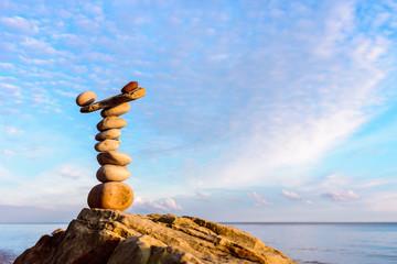 Zen Balance on the seashore