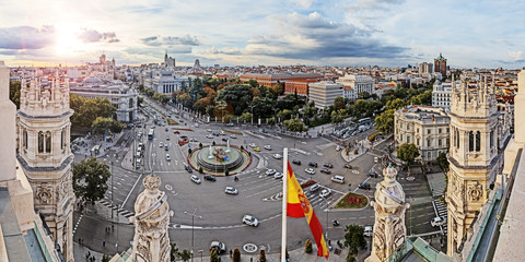 Photo sur Plexiglas Madrid Madrid, Plaza de Cibeles