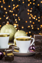 Christmas Confectioneries and Cups of Coffee