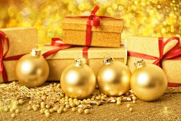 Weihnachtskarte golden