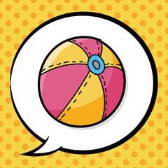 beach ball color doodle, speech bubble