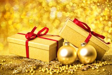 weihnachtsgeschenke golden