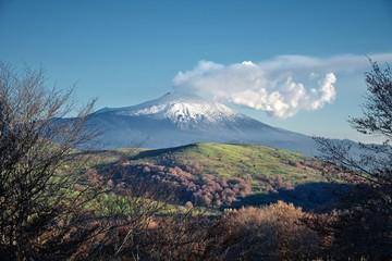 Etna Volcano from Nebrodi Park, Sicily Fototapete