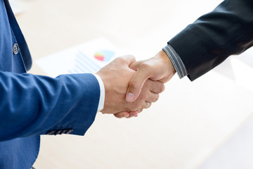 Business People Shaking Hands. Business Partnership Concept