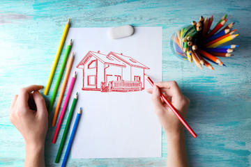 House picture, concept real estate