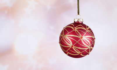 Colorful Christmas Ornament on an Abstract Bright Background