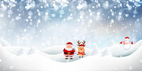 雪 クリスマス サンタ 背景