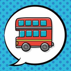 bus doodle, speech bubble