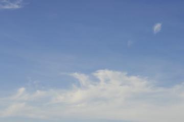 The blue sky and light cloud
