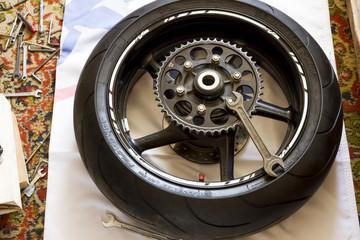 rear wheel sports bike