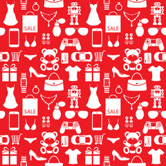 Shoppingand sale accessories background, pattern