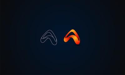 letter A modern logo template