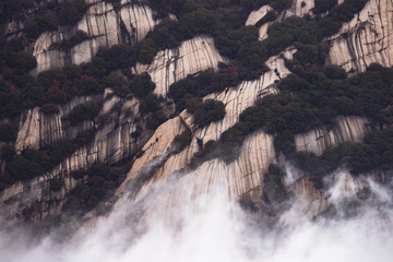 Huashan mountain. The highest of China's five sacred mountain