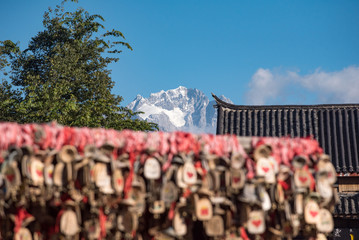Old Town Lijiang with jade dragon snow mountain