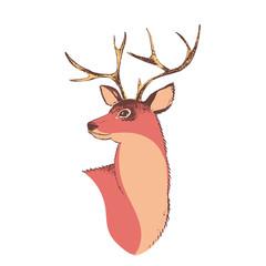 Deer 2. Isolated digital illustration