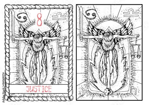 The tarot card  Justice