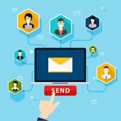 Running email campaign, email advertising, direct digital market
