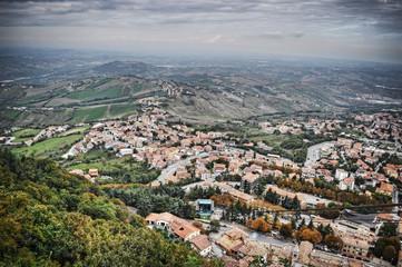 San Marino seen from the funicular railway