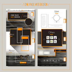 modern one page web design
