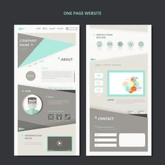 modern one page web design