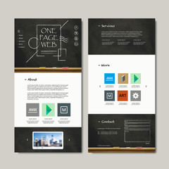 education one page web design
