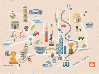 Hong Kong travel concept