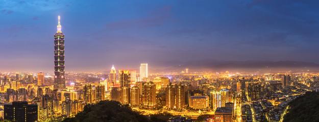 Wall Mural - Taipei skyline Panorama