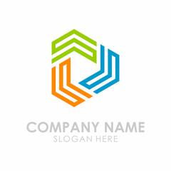 Initial S Triangle Play Box Logo